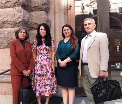 دیدار نمایندگان کنگرە ملیتھای ایران فدرال با عضو پارلمان سوئد