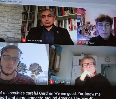 دیدار نمایندگان کنگرە ملیتھای ایران فدرال با بخش آسیای غربی سازمان عفو بین المللی (Amnesty) در استکهلم